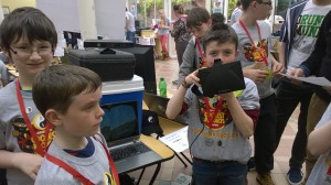 Minecraft with 3D glasses and Xbox motion sensors